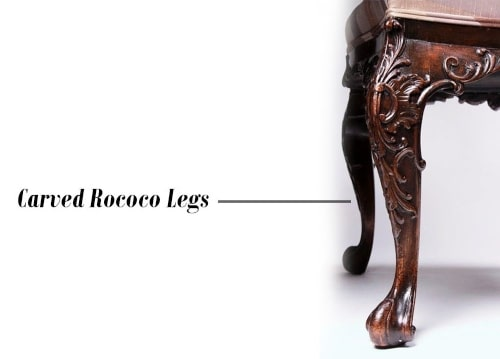 carved Rococo legs