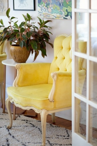 French Bergere Chair with Country Cabriole Legs