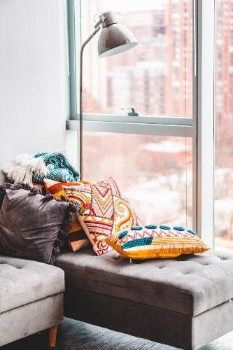 bohemian style pillow decor