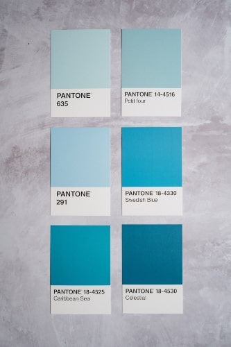 Saturated Versions of Blue Color