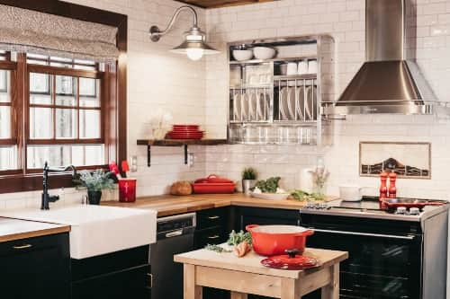 color schemes for industrial style kitchens