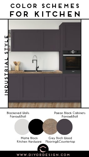 color schemes for kitchen with Industrial Style