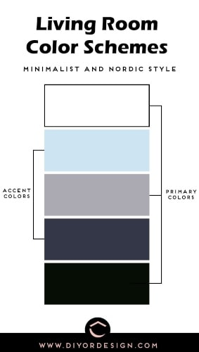 Minimalist Nordic Style Living Room Color Schemes