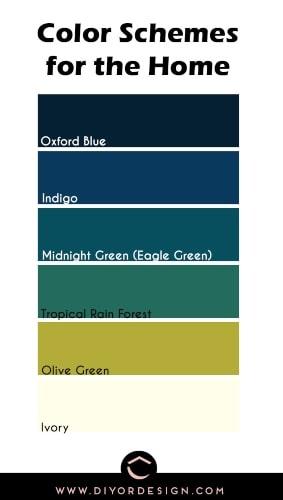 Whole house color palette
