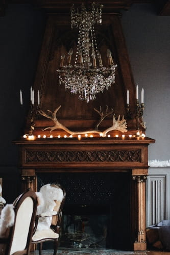 Fireplace Mantel Decor with 3 Items