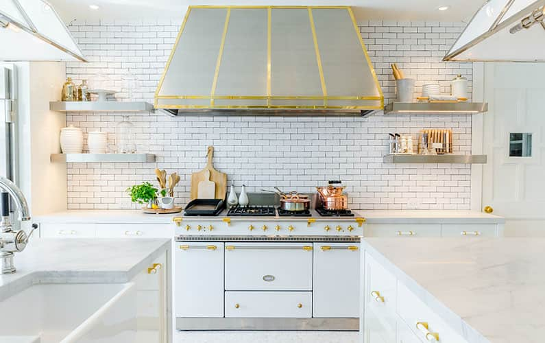 how to mix metals in kitchen