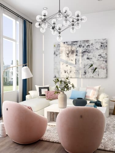 How to use different metals in Living Room
