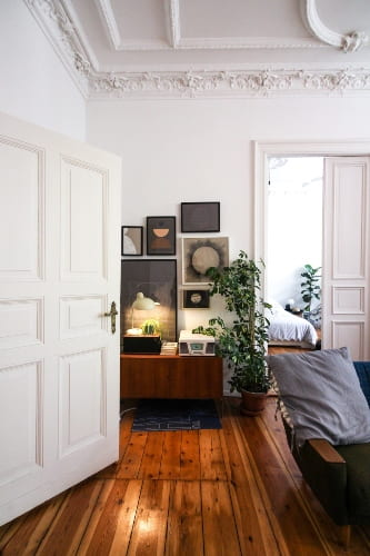 Warm Wood with White Paint Colors