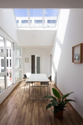 Wood Floor with White Paint Colors
