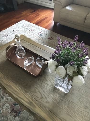 Glass Vase on Coffee Table