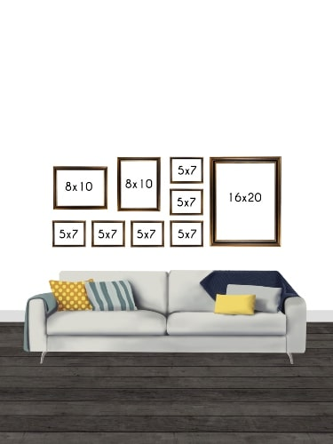 Gallery Wall Layout with Frames