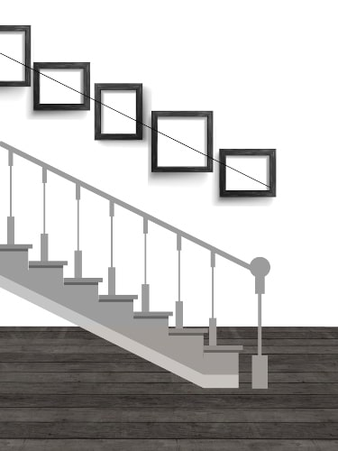 Staircase Gallery Wall Layout