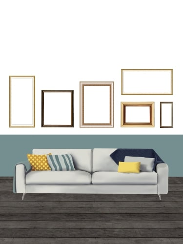 gallery accent wall layout