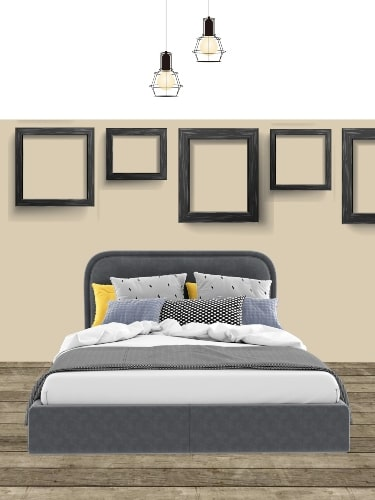 gallery wall layout for bedroom