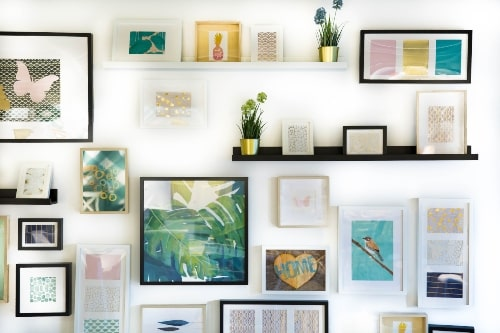 ideas for wall art layout