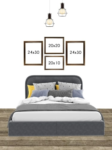 wall layout for bedroom